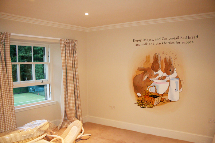 Kids Mural   Beatrix Potter By Mural Artist 4 U