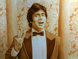 Big B Amitabh Bachan portrait finished mural